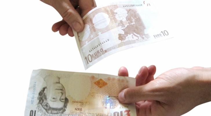 Geld uitwisselen Euro naar Pond