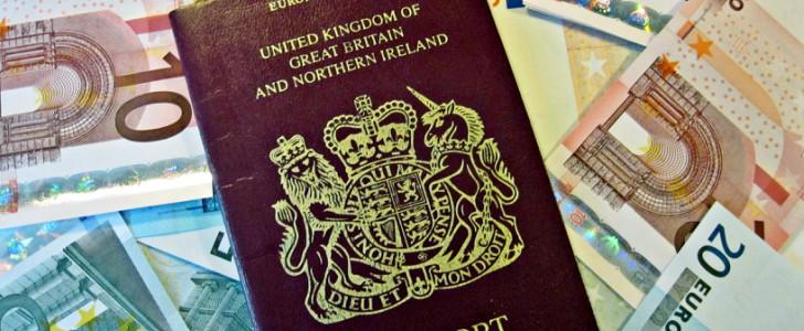 Paspoort met wisselgeld